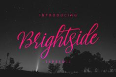Brightside Typeface by QueenType   Introducing Brightside...