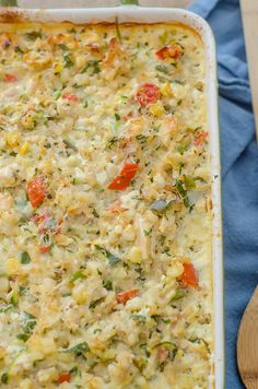 Chicken & Summer Vegetable Rice Casserole - maybe turned into a freezer meal?