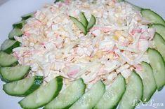 Egg Salad, Pasta Salad, Easy Salad Recipes, Cucumber, Easy Meals, Vegetables, Ethnic Recipes, Food, Salads