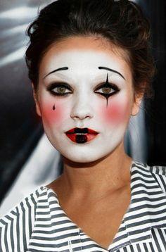 fasching schminken karneval clown