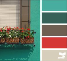 red and teal accent bedroom color scheme.with white for