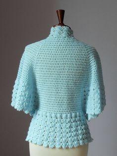Jaqueta cama Crocheted ou cardigan luz por Silvia66 no Etsy