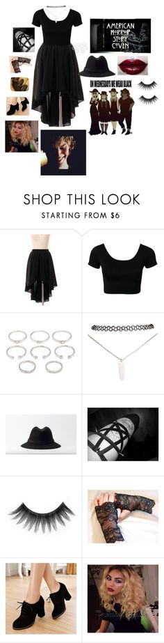 """""""What I'd wear if I was in Cover"""" by undead-charms ❤ liked on Polyvore featuring Chicwish, Forever 21, Wet Seal, RVCA, Coven, Episode, Kat Von D and Pangmama"""
