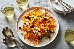 Butternut Squash Salad With Feta, Dates & Chile Recipe on Food52, a recipe on Food52 Healthy Salads, Healthy Eating, Fall Recipes, Vegan Recipes, Susan Recipe, Squash Salad, Bariatric Recipes, Food Goals, Vegetable Side Dishes