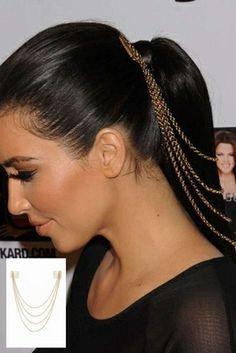 Belle Noel by Kim Kardashian 14KT Gold Honey Hexagon Hair Comb