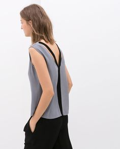 Image 3 of TOP WITH STRAPS AT THE BACK from Zara