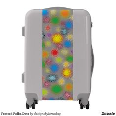Frosted Polka Dots Luggage