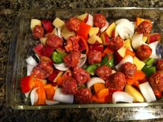 Memorial Day Cookout Menu: Sausage, Pepper, Onion, & Potato Bake {from 2 Sisters 2 Cities} #memorialday