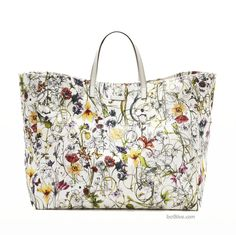 Floral Trends for Spring from Gucci -- Large Flora Infinity Canvas Tote