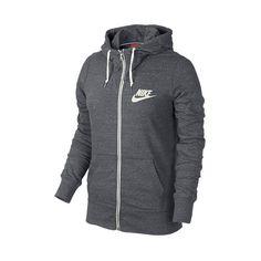 Women's Nike Gym Vintage Full-Zip Hoodie ($55) ❤ liked on Polyvore