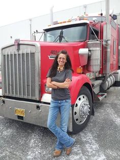 Images of Women Drivers Big Rig Trucks, Semi Trucks, Lisa Kelly Trucker, Trailers, Women Drivers, Kenworth Trucks, Peterbilt 359, Ferrari, Trucks And Girls