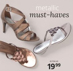 Precious Metal: Women's metallic styles as low as $19.99