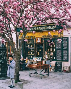 """The legendary Shakespeare and Co (37 Rue de la Bûcherie) is an independent English-language second-hand bookstore on the Left Bank. """"Hotel Tumbleweeds"""" refers to the fact that they host writers to sleep in between the stacks in exchange for help around the store. #SecretParis #TravelGuide #GetTransformed"""