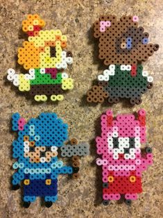 Perler Bead Templates, Diy Perler Beads, Pearler Bead Patterns, Perler Bead Art, Perler Patterns, Pearler Beads, Animal Crossing, Pixel Art, Hama Beads Kawaii