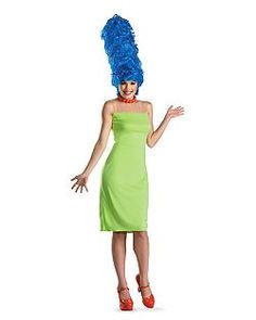 Adult Deluxe the Simpsons Marge Costume | Cheap TV and Movie Halloween Costume for Womens Costumes