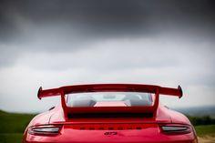 2018 Porsche 911 GT3, rear view, red sports car wallpaper