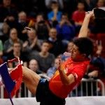 Table Tennis Pro Loses $45,000 for Kicking Barrier After Win (Video)