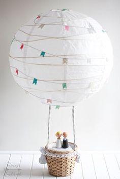 Feines Handwerk: Heißluftballon als Hochzeitsgeschenk