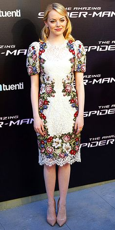 Emma wearing Dolce and Gabbana.