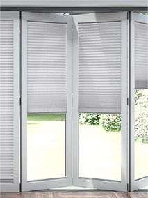blinds for bifold doors Curtains For Bifold Doors, Blinds For Windows, Curtains With Blinds, Windows And Doors, Bi Folding Doors Kitchen, Fitted Blinds, Outside Storage, Living Room Blinds, Diy Shutters