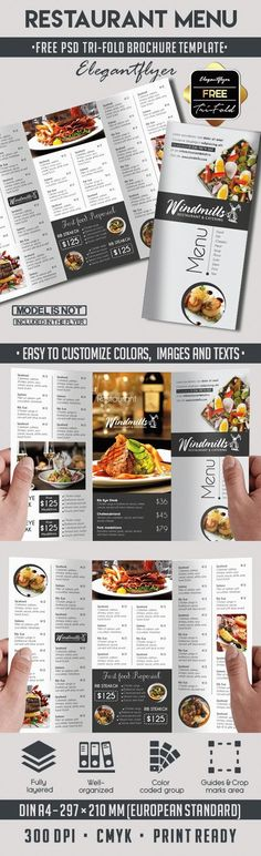 Turkey legs the menu and turkey on pinterest for Restaurant brochure template