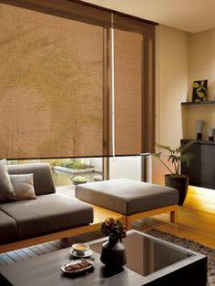 :: 和モダン・黒カーテン #2 Japanese Home Design, Japanese Modern, Japanese House, Japanese Style, Washitsu, Drapes And Blinds, Living Area, Living Room, Folding Doors