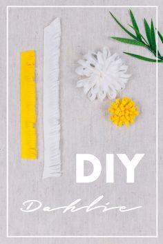 DIY Stoffblumen selber machen - Dahlie