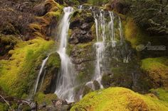 Title:High Country Waterfall; Artist Name:Mike DeCesare; Description:Waterfall in the high country of the Pacific North...; Art Form:Photography; Style:Photorealism; Media:Photography: Premium Print; Genre:Landscape