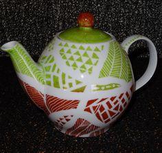 théière motifs géométriques : Vaisselle, verres par pigments-et-kaolin