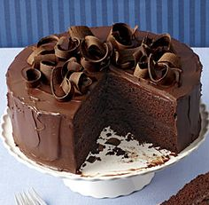 Chocolate-Honey Ganache Layer Cake.