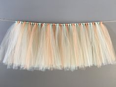 Peach/Mint/Ivory Tulle Skirt Pastel Table by AvaryMaeInspirations