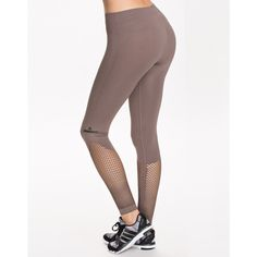 Adidas By Stella Mccartney Ess Sl Tight (745 SEK) ❤ liked on Polyvore featuring cement grey, sports fashion, tights, womens-fashion and adidas