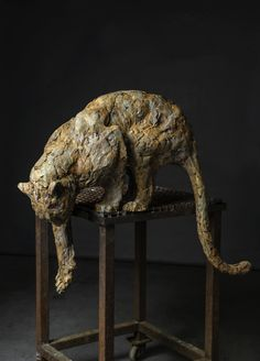 Sculpture can be a real source of inspiration don't you think? Dog Sculpture, Stone Sculpture, Animal Sculptures, Ceramic Animals, Ceramic Art, Art Pierre, Art Moderne, Stone Art, Clay Art