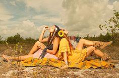 Sunflower Headband, Daisy Headband, Miami, Gypsy Halos, Hippies, Festival Fashion