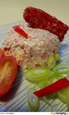 Lovecká pomazánka No Salt Recipes, Cooking Recipes, New Menu, Food 52, Party Snacks, Starters, Ham, Brunch, Food And Drink