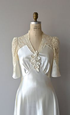 Crowning Glory wedding gown vintage 30s wedding by DearGolden
