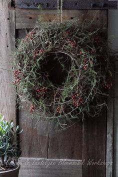 Berry moss wreath