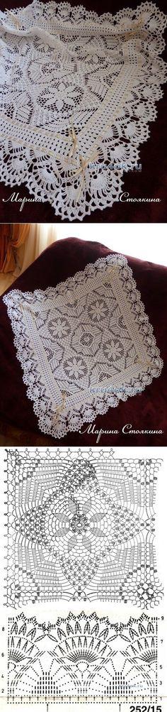 Calados manta de ganchillo - la obra de Marina Stoyakin - Crochet en kru4ok.ru