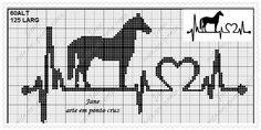 Horse Heartbeat Cross Stitch Horse, Cross Stitch Books, Beaded Cross Stitch, Cross Stitch Animals, Cross Stitch Charts, Cross Stitch Embroidery, Cross Stitch Patterns, Modele Pixel Art, Knitting Paterns