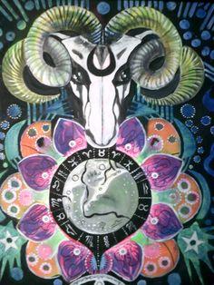 Ram. Painting