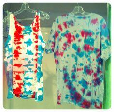 Fourth of July tie dye shirts! DIY