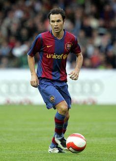 Andres Iniesta of Barcelona in 2008.