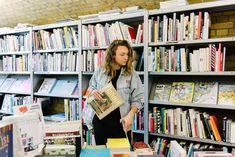 Ricarda Messner, with her publication Flaneur, at Bücherbogen in Berlin - Freunde von Freunden