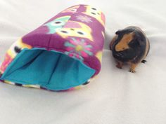 New to CreatedbyLauraB on Etsy: Cozy tunnel for small animals guinea pigrabbit ferret pet hideout pigaloo pet sleeping bag. cage accessories small animal toy hideout (17.00 USD)