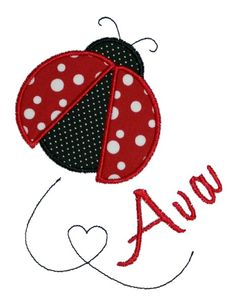 Ladybug Applique Design by AppliqueChick on Etsy, $4.00