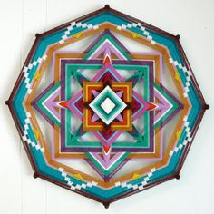 Crossroads, a 16 inch, 8-sided Ojo de Dios, by custom order  | These are beautiful. I've never seen a god's eye that's so big.