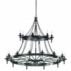 medieval style 18 lamp chandelier
