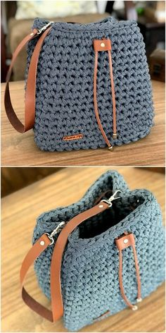 Net Pattern Bag Crochet Free pattern crafts bags 60 New And Stylish Designs Of Crochet Free Patterns - DIY Rustics Crochet Case, Free Crochet Bag, Crochet Diy, Crochet Handbags, Crochet Purses, Crochet Designs, Crochet Patterns, Crochet Backpack, Bag Pattern Free