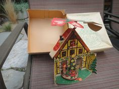 CAROUSEL PoP Up vintage Christmas Decor Carousel by MilliesAttique