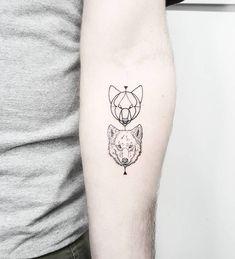 Wolf tattoos on the left inner forearm. Tattoo artist: Matteo Nangeroni
